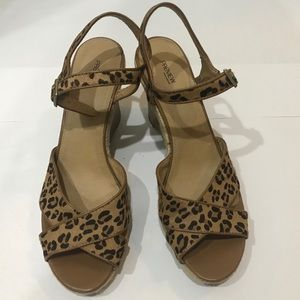 Women Leopard Wedges - Size 12